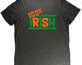 100% Irish Flag Italy Pride St. Patrick's Day T Shirt