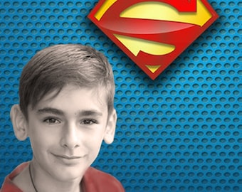 Pop Portrait - Custom Family Portrait and Custom Child portrait - Pop Art Portrait - Superman