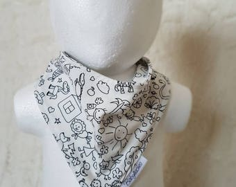 "Baby scarf/triangular scarf ""small animals"""