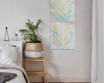 neutral painting, pastel painting, neutral art, acrylic painting, colorful painting, abstract art, teal painting, nursery painting, art