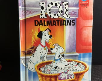 Vintage 1995 Wonderful World of Reading - 101 Dalmations (First American Edition) - Hardcover Children's Book - Grolier