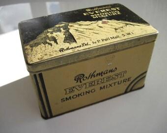 Everest Smoking Mixture Vintage Tobacco Tin