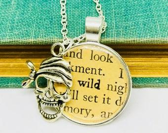 Pendant Necklace Wild Pirate Boho Epoxy Resin Pendant