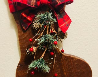 Handmade Wooden Stocking