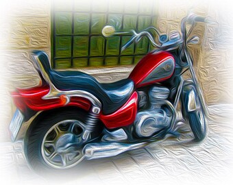 Greetings Card - Motor Bike