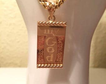 Beautiful 18 carat 750er pendant-engraving my God without chain