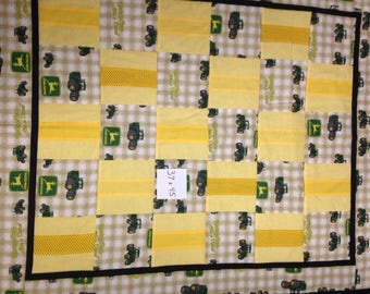 Quilt:  John Deere quilt, childrens, toddlers, kids or adult lap quilt