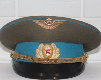 Military cap, Soviet army hat, Officer's cap, Russian cap,USSR hat, Soviet union, Vintage military hat USSR