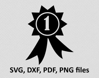 1st Place medal SVG/ Medal DXF/ Medal Clipart/ Medal Files, printing design, Medal cutting, Medal silhouette, Medal vector, 1st place medal