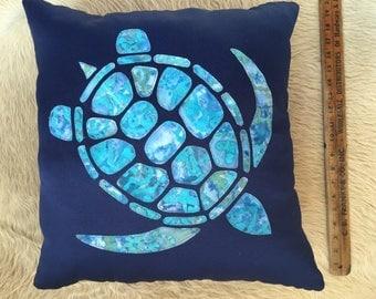 sea turtle pillow. Fully stuffed