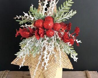 Christmas Gift Wine Wrap