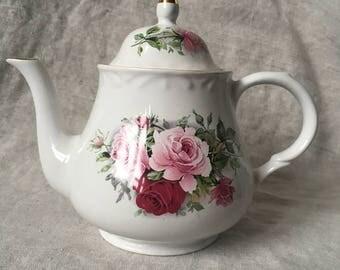 Arthur Wood & Son Rose Teapot