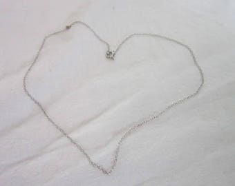 Nice Sterling Silver 17 inch Chain Necklace