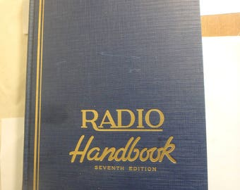 "the ""radio"" handbook 7th seventh edition issued by ""radio"" 1941 edition like new"