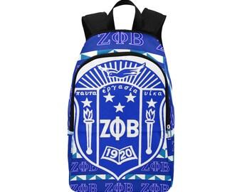 Zeta Phi Beta Custom Fabric Backpack