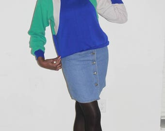 Vintage 1980s Colorbloc Sweatshirt