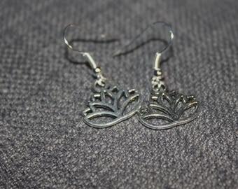 Handmade Lotus Flower Earrings Floral Boho Jewellery