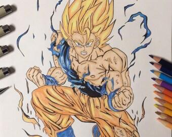 Goku Super Saiyan Drawing (Dragoball Z)