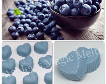 5 blueberry soy wax melts, fruity wax melts, sweet scented wax, food wax melts, cheap wax, wax melt tarts, highly fragranced wax melts