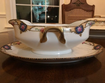 Vintage P.A.L.T Gravy/Sauce Boat with Tray