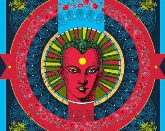 AFRICAN HEAD, Digital art, Digital Art, icon, print, Illustration, frame for frame, decorative frame, gift