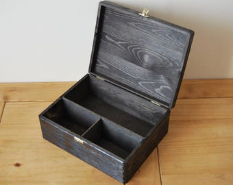 Wooden Box for Alcohol Lockable Latch In Ebony Colour