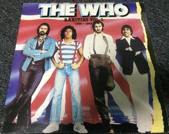 """The Who RARITIES Vol 1 """"1966 - 1968"""" Compilation 1983 Compile Hits Barbara Ann Cover/British Rock Band VG 33 1/3rpm Made In England Press"""