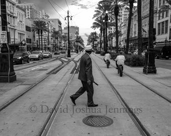 Canal Street - New Orleans 2016 - Fine Art Photograph - Street Photography - Black and White - Art Print - Canal Street - French Quarter