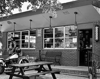 Urban fine art photography, Smoking Barber