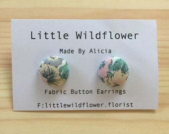 Suzy Floral Button Earrings