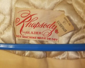 Vintage housecoat buy Glazier called Rhapsody