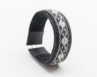 Bracelets black/grey diamond