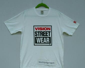 Rare!! T.shirt vision street wear spell out large size