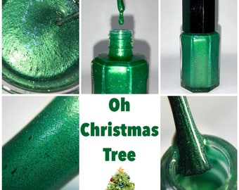 Oh Christmas Tree- Homemade Indie Nail Polish