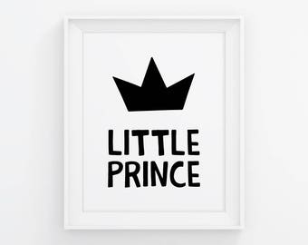 PRINTABLE Little Prince Poster. Boys Room Wall Art - Kids Bedroom Decor. Children Signs, Digital Prints, Printable Quotes. Baby Boy Nursery