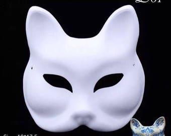 Cosplay DIY Paper mask, Blank Mask, White mask, Custom mask