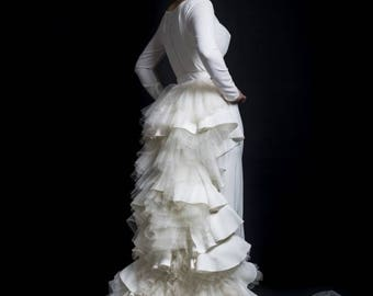 Train couture wedding dress