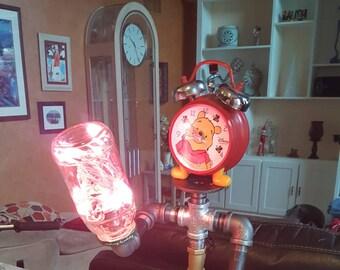 Unique industrial Lamp (Robot/Steampunk )