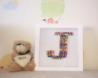 Personalised crayon frame