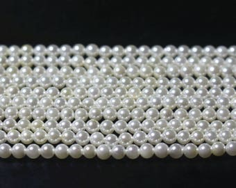 15 inches full strand , 2MM 3MM white south sea shell pearls beads ,small loose shell beads,semi-precious shell pearls beads