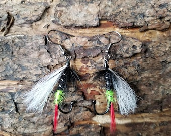 One of a kind fly earrings