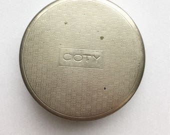 Mid century Vintage Coty makeup compact with mirror