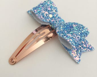 Cotton Candy Petite Snap Clip - Chunky Glitter - Snap Clips - 50mm Clips -
