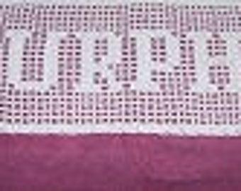Handmade name doilies