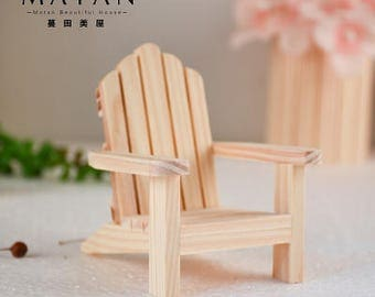 1:12 dollhouse miniature handmade adirondeck chair yard furniture /2 chairs