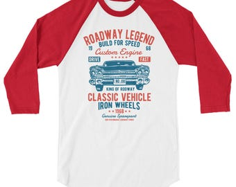 Classic Vehicle 3/4 sleeve raglan shirt