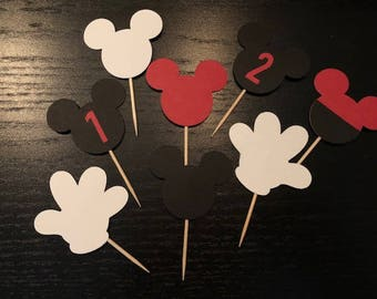"2"" Mickey Mouse Cupcake Toppers"