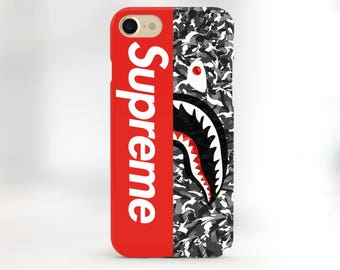 Supreme iPhone X case Shark Supreme iPhone 8 case iPhone 7 Supreme Louis Vuitton iPhone 8 Plus Supreme case Galaxy S8 case Bape Supreme Camo