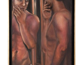 Narcissus, Man in front of Mirror