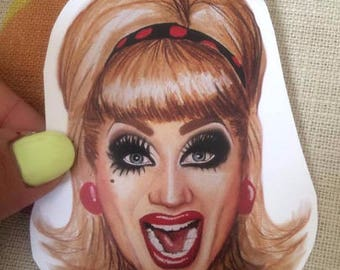 Hurricane Bianca Del Rio Rupaul's Drag Race Drag Queen Sticker Or Magnet